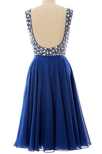 Dress Cocktail Dunkelgrun Party Straps Formal MACloth Elegant Short Chiffon Gown Wedding EfaxwtqA