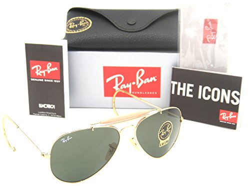 Ray-Ban Outdoorsman God Frame Green G-15 Lenses RB 3030 L0216 - Rb 3030