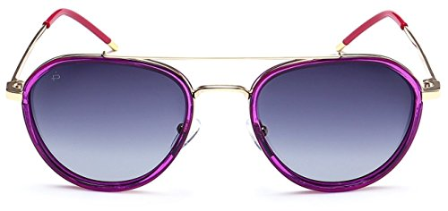 "PRIVÉ REVAUX ""The Connoisseur"" [Limited Edition] Handcrafted Designer Polarized Aviator Sunglasses For Men & Women (Purple)"