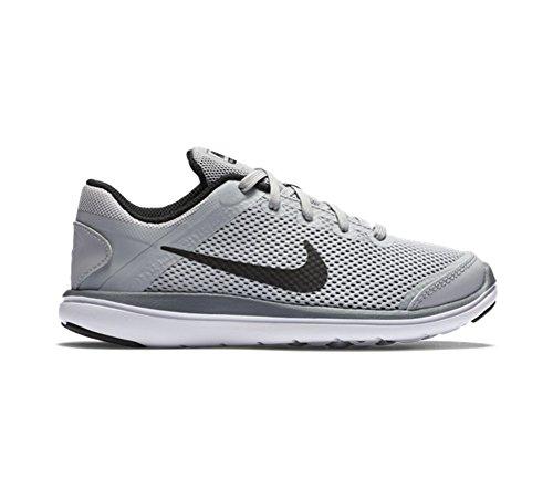 Nike Boy 's flex 2016RN Athletic Shoe Gris/Blanco/Negro (WOLF GREY/WHITE/COOL GREY/BLACK)