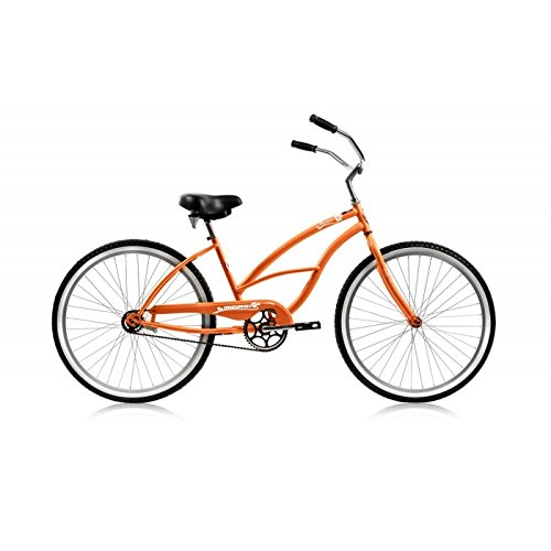 Pantera Beach Cruiser - Micargi Pantera Beach Cruiser Bike, Orange, 26-Inch