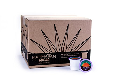 Manhattan Roast 'Liberty Brew' (House Blend / Medium Roast) Single-Serve Coffee Freshcup works in most Keurig K-Cup Brewers, 90 Count Box