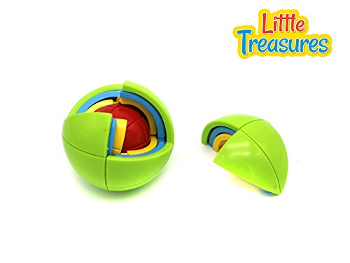 Little Treasures 3D Puzzle Ball, Educational Toy, Mental Stimulation for Kids,4 colors