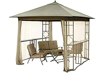 Replacement Canopy for Mainstays Landsdowne Heights Double Shelf Gazebo MS14-302-008-02  sc 1 st  Amazon.com : mainstays replacement canopy - memphite.com