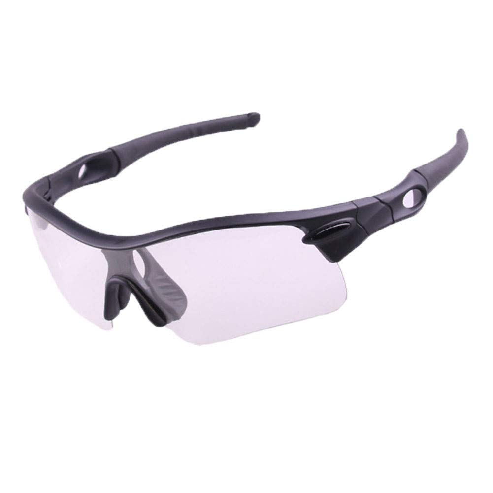 Black Outdoor Sports Goggles Cycling Glasses Sunglasses Windshield Outdoor Sports Mountain Bike Glasses Sports Sunglasses Predection Cycling Discoloration And Night Vision And colorful And Polarized Lens Se