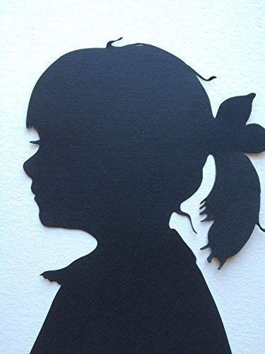 5 by 7 Custom Hand-cut Silhouette Portrait Profile