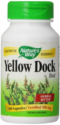 Nature's Way Yellow Dock Root, 100 Capsules, 500mg