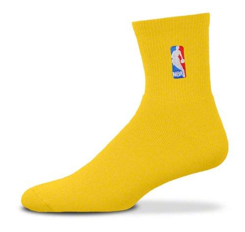 NBA Logoman Quarter Length Sock - Gold