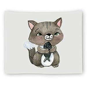 Wkj Serie Linda del Gato Decoraciones para el hogar Tapicería Colgante de Pared Decoración de la