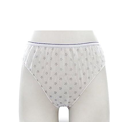 Dailyinshop 7 piezas de las señoras desechables bragas envuelven la ropa interior de papel de las