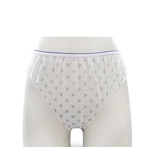 Dailyinshop 7 Pcs Ladies Disposable Panties Wrapped Travel Women's Paper Underwear