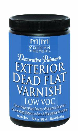 Modern Masters DP401 Exterior Dead Flat Varnish Low VOC Quart ()