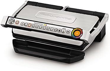 Rowenta GR722D Optigrill+ XL Bistecchiera Intelligente con 9 Programmi di Cottura Automatici, Nero / argento