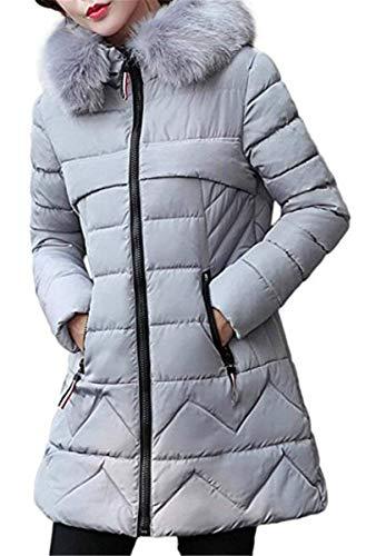 Solidi Invernali Di Cerniera Laterali Pelliccia Collo Con Giacca qBqAY8