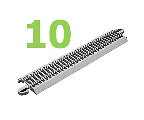 10Pcs New Bashman 9'' Staight Nickel Silver E-Z Hobby Train Track HO Scale Quick Arrive