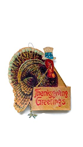 Thanksgiving Turkey Ornament Decoration Patriotic Greetings Holiday (Thanksgiving Greetings Postcard)
