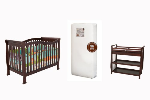 Athena Nadia 3-in-1 Crib, Changing Table and Mattress Bundle by Athena