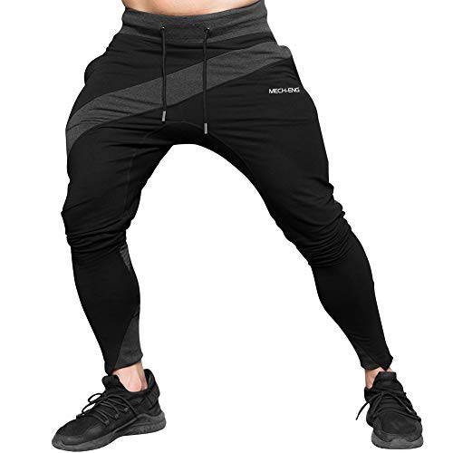 MECH-ENG Men's Gym Joggers Pants Casual Slim Fit Workout Swe