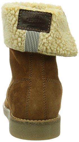Marc O'Polo Flat Heel Bootie - Botas de cuero para mujer marrón - Braun (cognac 720)
