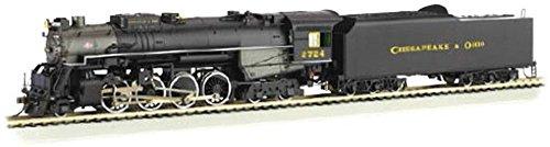 Bachmann 50953 N Scale C&O Kanawha 2-8-4 Berkshire Steam Locomotive & Tender #2724 ()