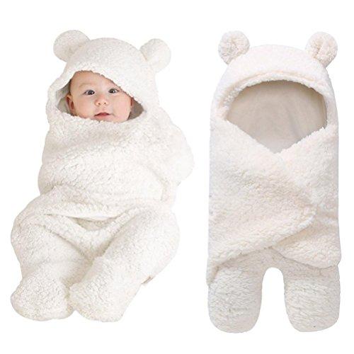 Sunbona Sleep Sack for Toddlers, Newborn Baby Fleece Warm Swaddle Wrap Sleeping Bag Kids Photography Prop Set