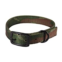 Hamilton Double Thick Nylon Sports Dog Collar, 1 by 24-Inch, Camouflage