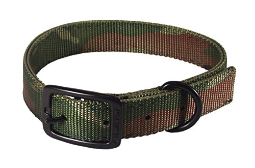 Hamilton Double Thick Nylon Sports Dog Collar, 1 by 20-Inch, Camouflage