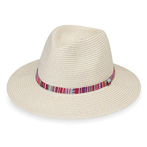 Wallaroo Hat Company Women's Sedona Fedora – Natural – UPF 50+, Aztec Flair ()