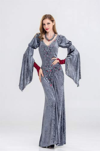 MY Halloween Cosplay Long Witch Costume Game Uniforms European Code Witch Costume for Women (Size : L) ()