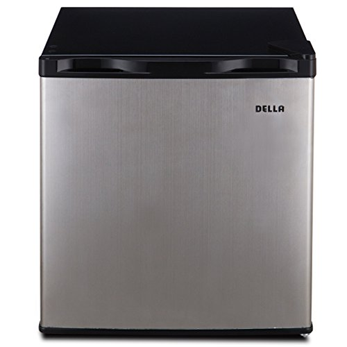 Della Compact Mini Refrigerator & Freezer, 1.6 Cubic Feet, Stainless Steel by DELLA (Image #1)