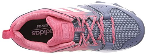 adidas Galaxy Trail W, Chaussures de Running Femme Multicolore (Raw Steel S18/chalk White/real Pink S18)