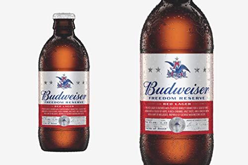 Lager Bottles - 2018 Anheuser-Busch Budweiser Freedom Reserve Red Lager EMPTY 12oz Bottle W/Cap