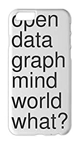 open data graph mind world what? Iphone 6 plastic case