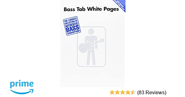 Amazon com: Bass Tab White Pages (9780634033261): Hal Leonard Corp