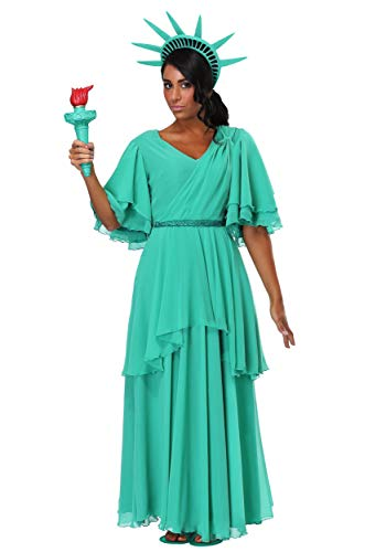 Women's Statue of Liberty Costume Medium Green ()