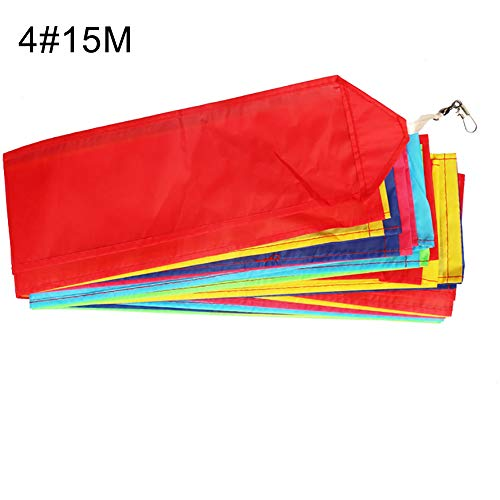 LeSharp Kite Tail Line, 10/15/30m Rainbow Color Blocking Long Kite Tail Line Outdoor Sports Accessory 4# ()