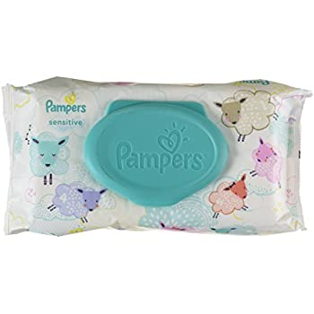Pampers Sensitive Water Baby Wipes 1X Pop-Top Pack, 56 Count (Packaging May Vary)