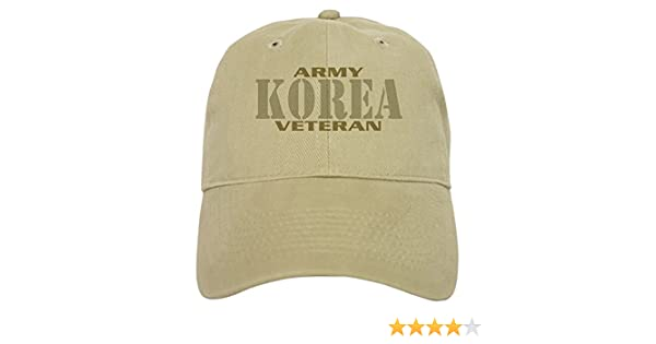 4a3ffdbce674d Amazon.com  CafePress - KOREAN WAR ARMY VETERAN Cap - Baseball Cap with  Adjustable Closure