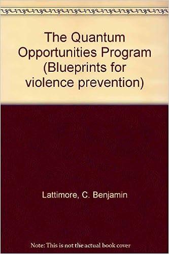 The quantum opportunities program blueprints for violence the quantum opportunities program blueprints for violence prevention c benjamin lattimore amazon books malvernweather Choice Image