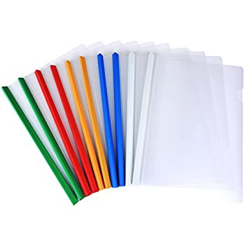 amazon com shappy 10 pieces transparent file folder sliding bar