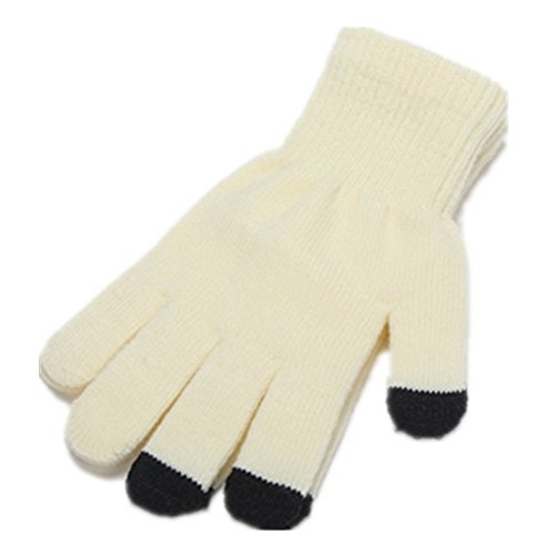 ITS RIDIC! Warm Knitted Stretch touchscreen/texting winter gloves with a soft texture. Just thick enough to not be bulky. Off-White