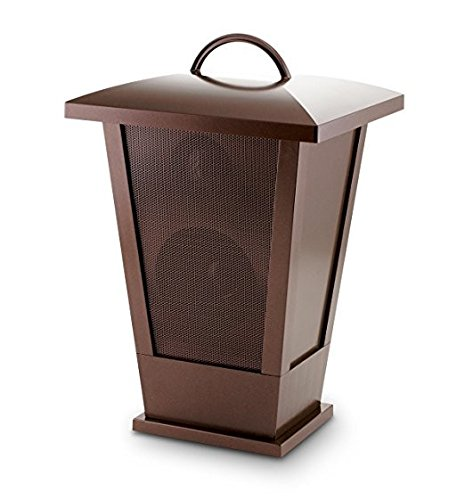 "Fine Audio Bluetooth Speaker Lantern with LED Lights, 7.75"" x 7"" x 11.75"", Copper"