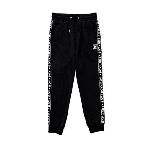 BOY London Unisex (S,M,L,XL) Boy Logo Taped Detailed Jogger -Black New_(BG3PL043) (Black, Medium) by BOY London