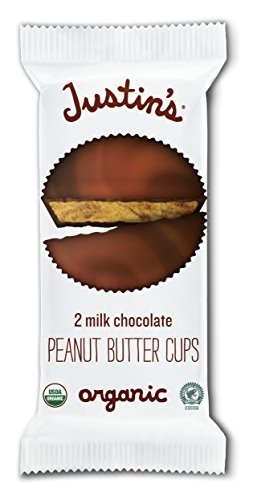 Chocolate Peanut Milk (Organic Milk Chocolate Peanut Butter Cups by Justin's, Rainforest Alliance Certified Cocoa, Gluten-free, Responsibly Sourced, 12 Packs of 2-Cups each)