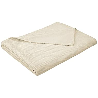 Impressions All-Season Luxurious 100-Percent Cotton Metro Blanket, Full/Queen, Ivory