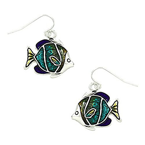 Liavy's Tropical Fish Fashionable Earrings - Epoxy - Fish Hook - Unique Gift and Souvenir