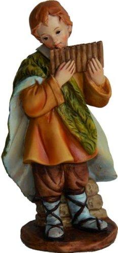 Kind mit Panflöte, geeignet für 7cm Figuren