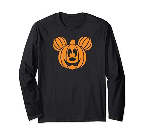 Disney Mickey Mouse Halloween Pumpkin Long Sleeve T-shirt -