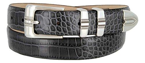 (Kaymen Italian Calfskin Leather Designer Dress Golf Belts for Men 1-1/8