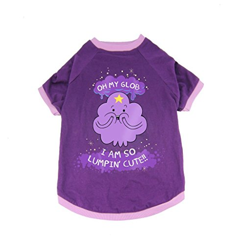 Adventure Time Dog Costume T-Shirt BMO Lumpy Space Princess Halloween Purple New by Crowded Coop]()